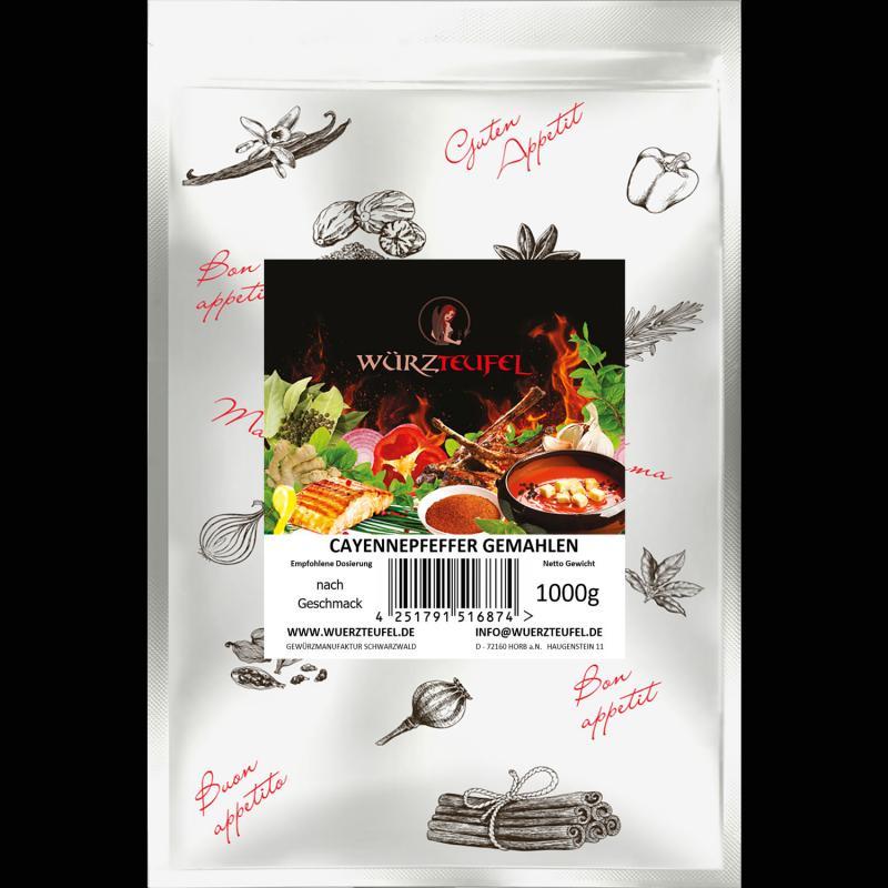 Cayennepfeffer, Chili gemahlen