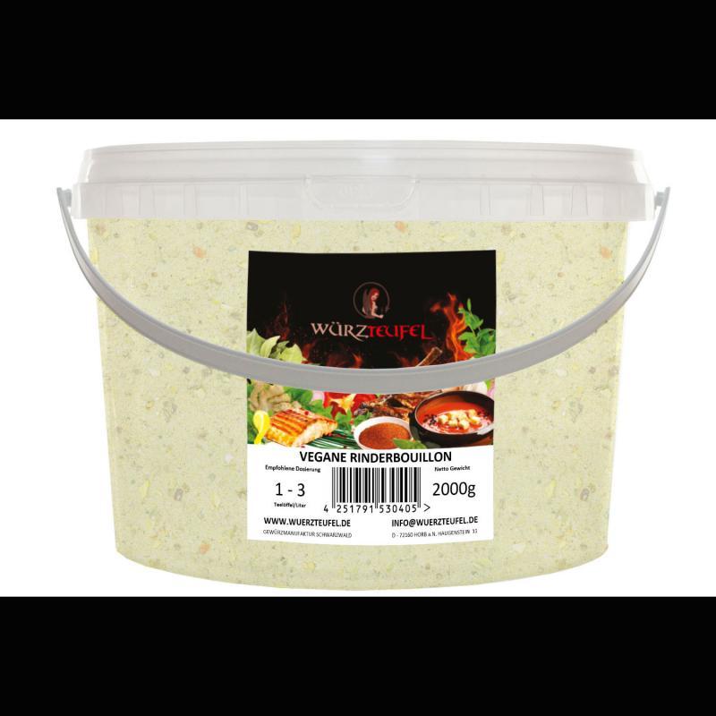 Klare Rindersuppe,  vegane Rinderbouillon
