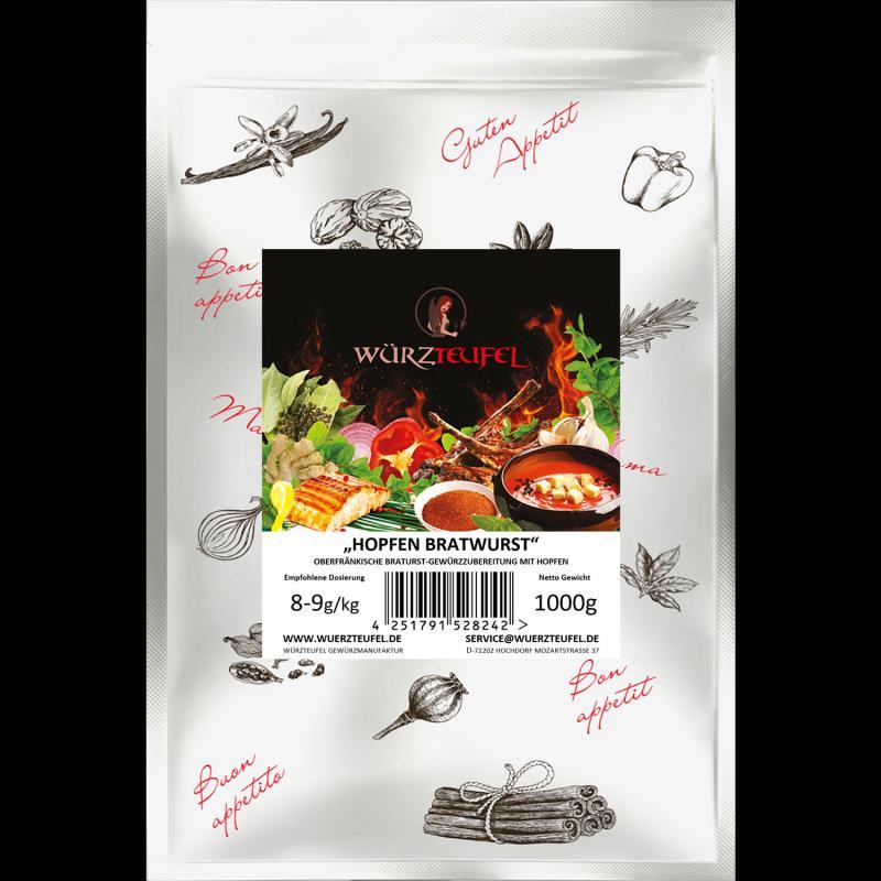Oberfränkische Hopfen -  Bratwurst Gewürzzubereitung