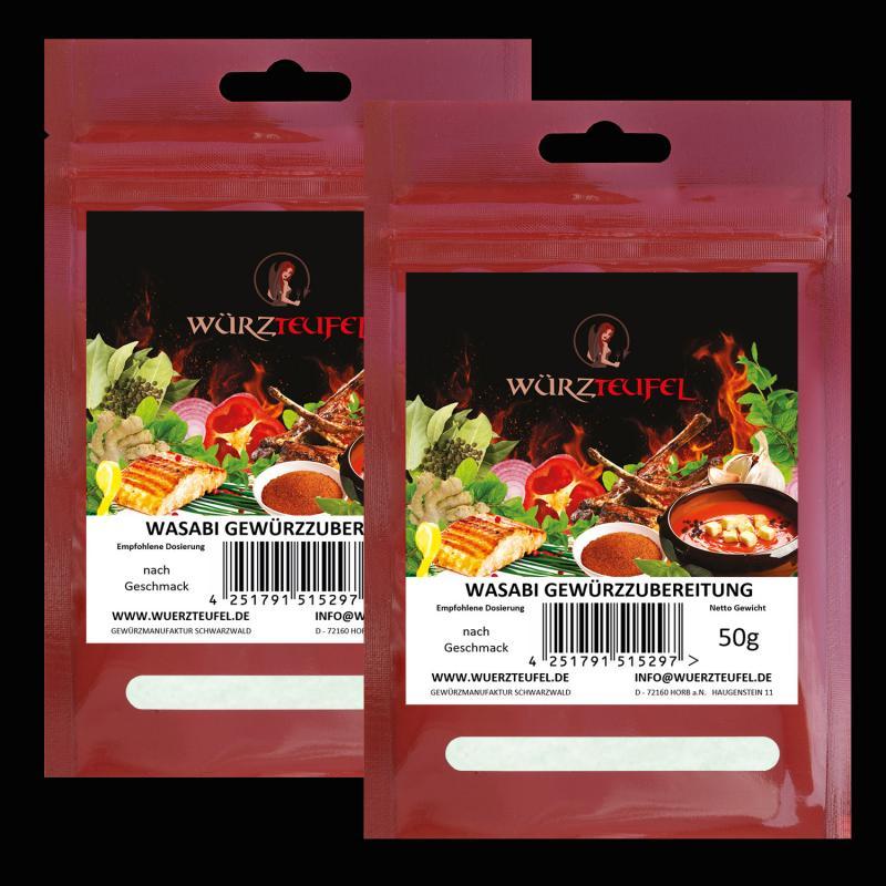 Wasabi - Gewürzzubereitung, Wasabi - Pulver
